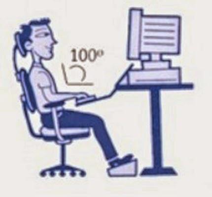 Hướng dẫn ngồi máy tính đúng tư thế