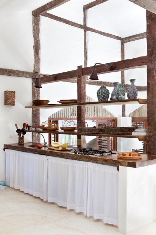 muebles artesanales para cocina bohemia