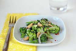 Tahini Broccoli Salad with Cashews