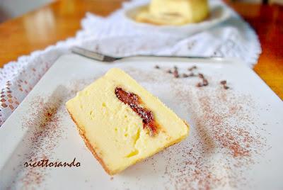 Sformatino di ricotta cuore morbido  di cioccolato ricetta di tortino dolce