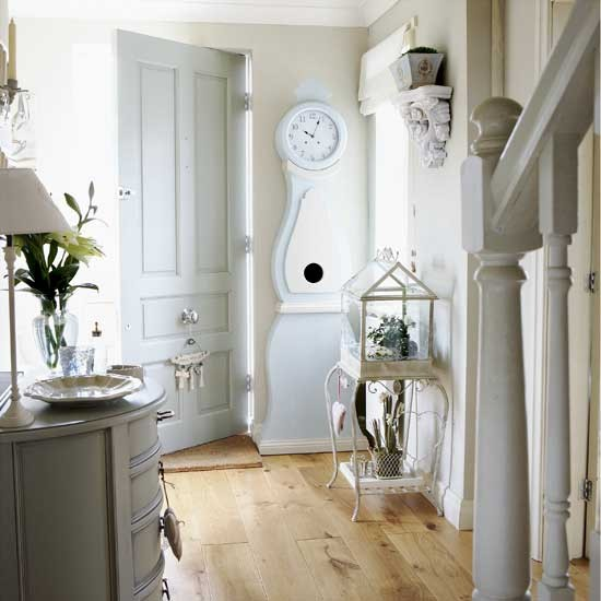 Farrow and Ball Light Blue hall