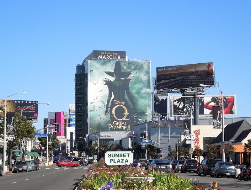 Disney Oz Great Powerful movie billboard Sunset Plaza