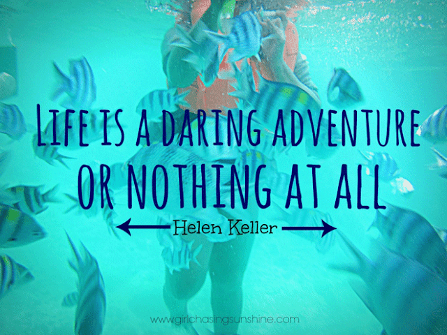 Travel Picture Quote Life is a daring adventure, or nothing at all by Helen Keller
