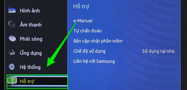 Cách khôi phục cài đặt gốc và thiết lập lại từ đầu tivi Samsung thường