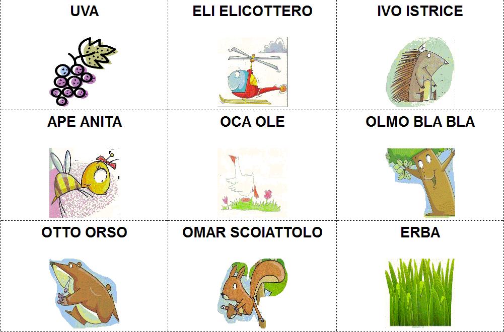 Schede ed attivit didattiche del maestro fabio per la for Memory da stampare per bambini