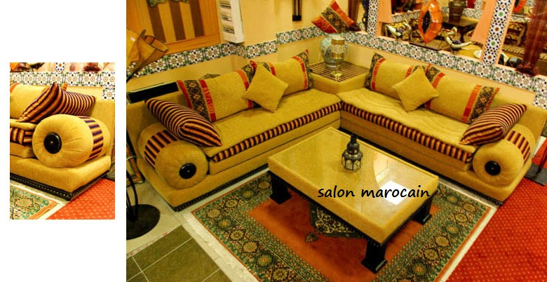 salon marocain marocain salon. Black Bedroom Furniture Sets. Home Design Ideas