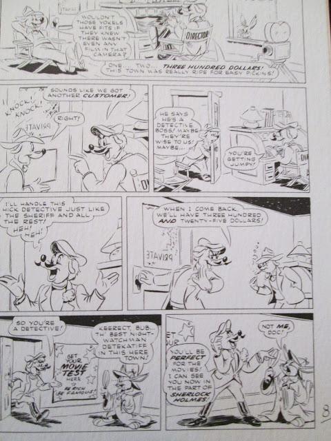Original Bugs Bunny Sherlock Holmes comic
