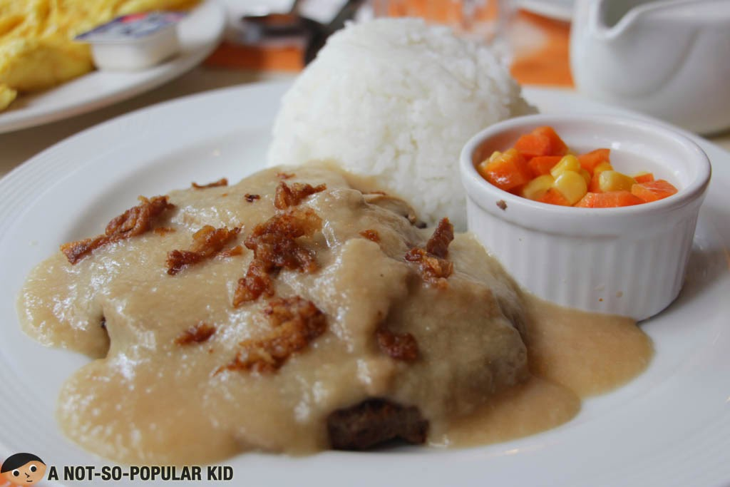The tasty Salisbury Steak of Pancake House