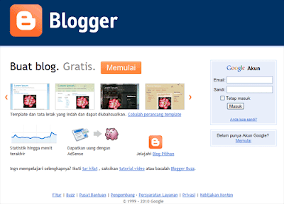 Cara Membuat Blog Gratis Di Blogspot 2014