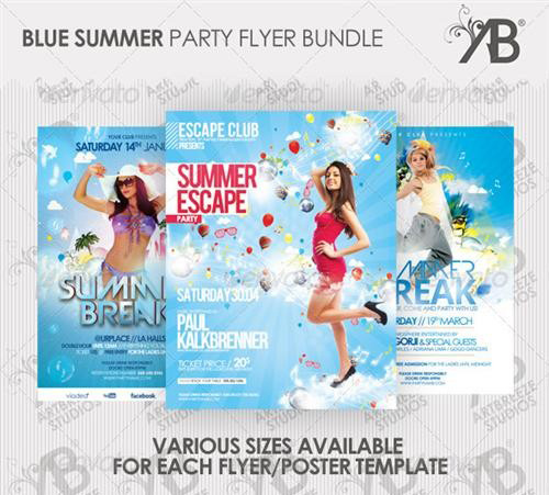 GraphicRiver - Summer Party Flyer Poster Bundle