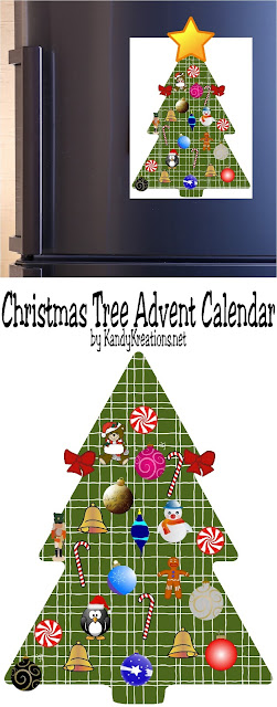 Countdown the days to Christmas with this fun and free printable Advent Calendar.  Add one of the cute ornaments to the tree each day and Christmas will be here before you know it.
