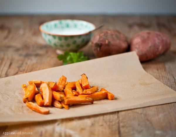 Süßkartoffel Pommes Sweet Potato Dip Rezept