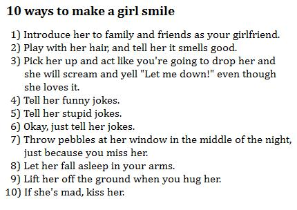 funny jokes to tell a girl to make her smile