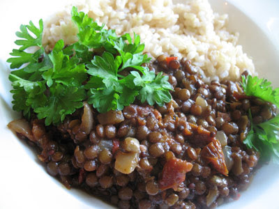 Puy Lentils with Spices and Tamarind