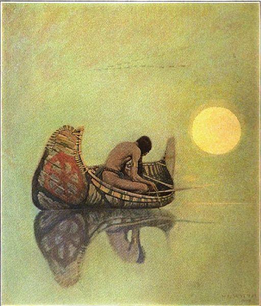 NC Wyeth silent fisherman