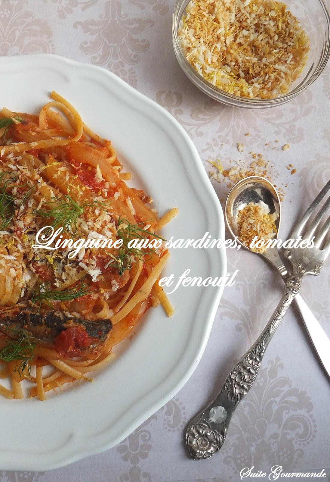 suite gourmande linguine au fenouil tomates sardines. Black Bedroom Furniture Sets. Home Design Ideas