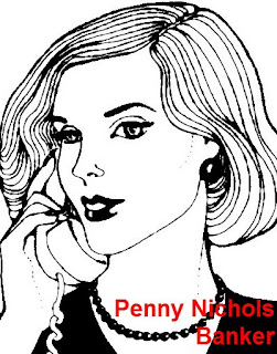 Penny Nichols banker cartoon clip art