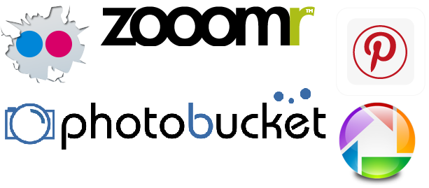 flickr picasa photobucket zoomr pinterest