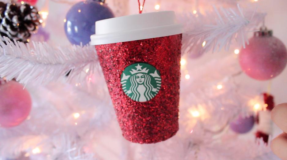 Hellomaphie: DIY STARBUCKS ORNAMENTS ☆ Christmas Tree Decor Ideas