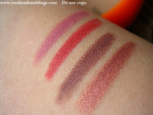 Avon Glimmersticks Lipliners Pencils Mystery Maue Rich Cocoa Ginger Red Brick Photos Swatches Review Indian Beauty Makeup Blog