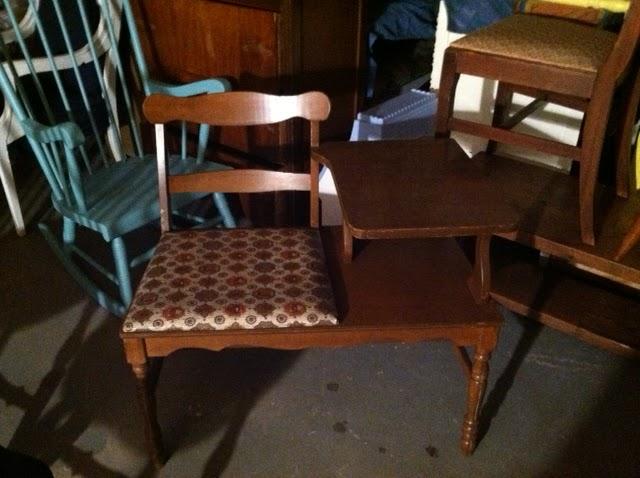 - Antique Phone Chair