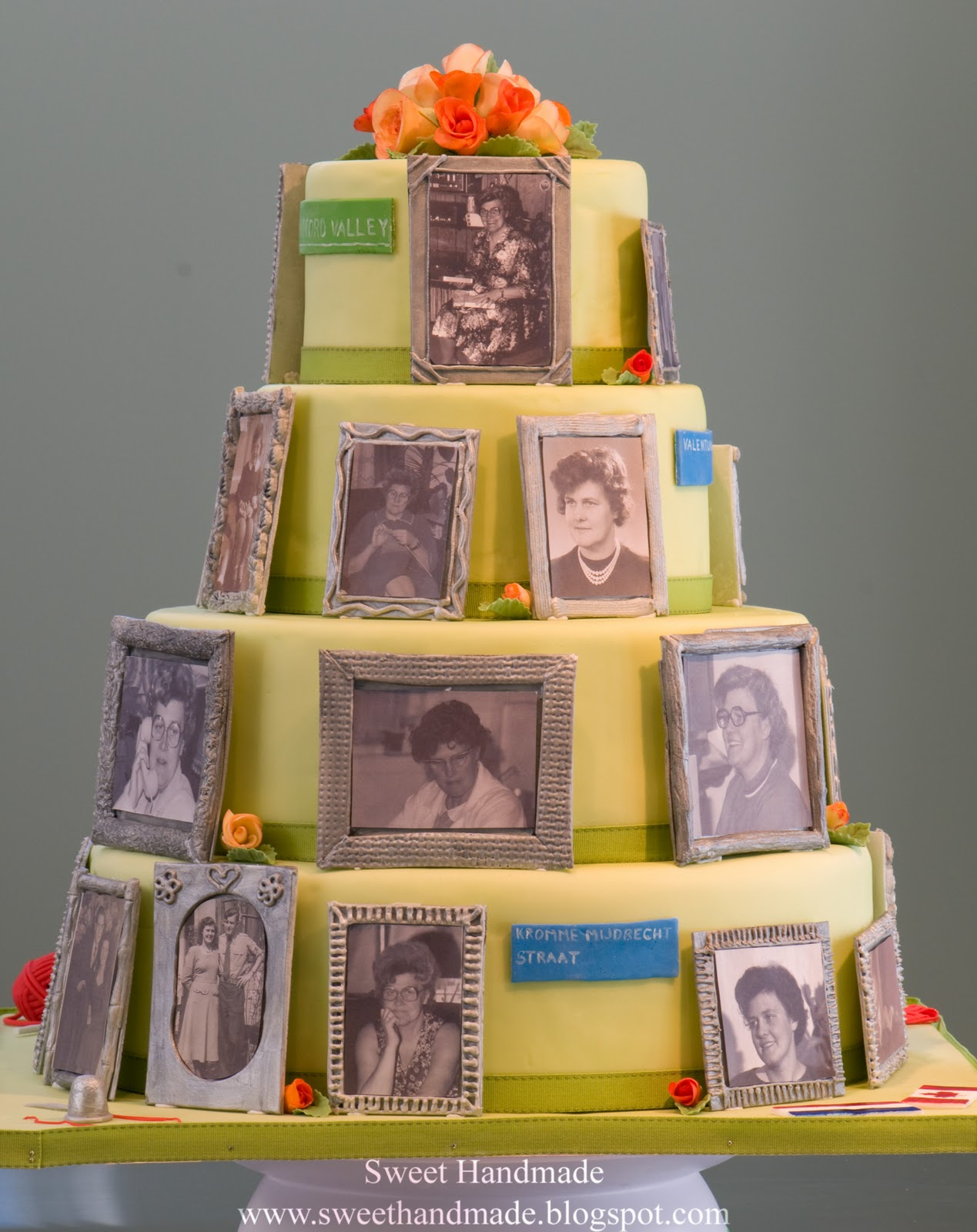Cake With Photo Frame : Sweet Handmade Cookies: Photo Frame Birthday Cake