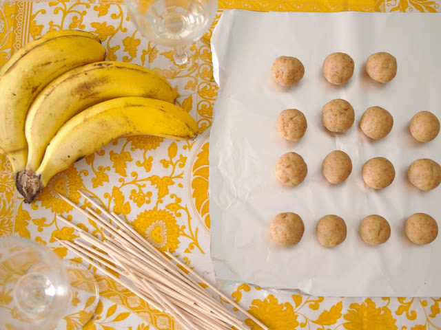 Banana pop cakes homemade