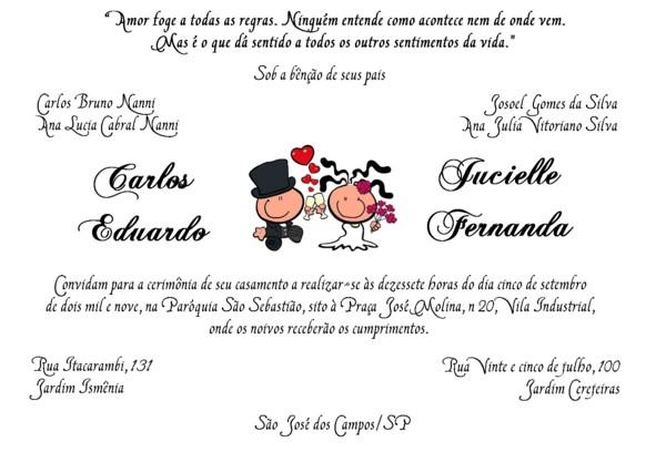 Convites de casamento  casamento :)