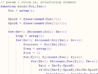 Fungsi Dasar Dilasi dan Erosi dalam Citra PHP