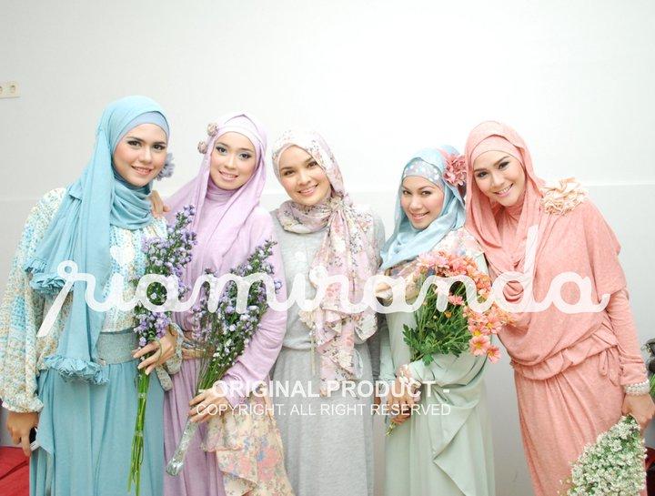 model hijab terbaru ria miranda tutorial hijab