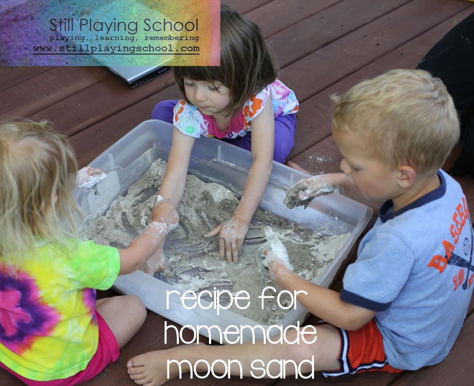 Homemade Moon Sand Recipe Still Playing School