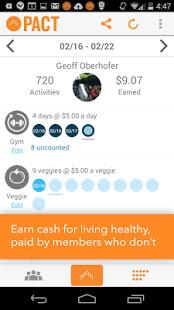 Pact app ganhar dinheiro atividade física