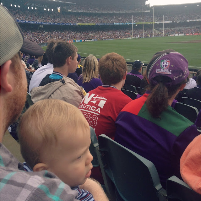 Taking an infant to a footy game - perth with kids - Blog ...