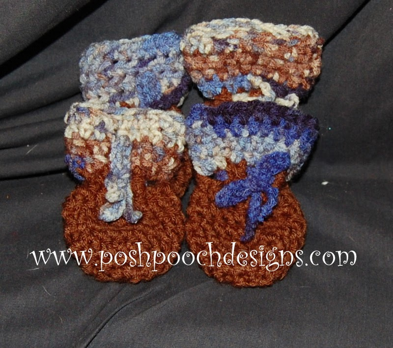 Free Crochet Pattern For Dog Shoes : Posh Pooch Designs Dog Clothes: Dog Bootie Pattern for ...