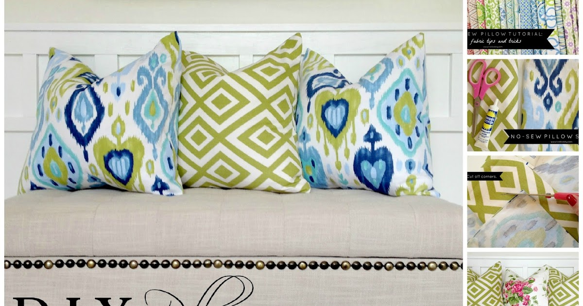 Make Throw Pillow Cover Without Sewing : LiveLoveDIY: How To Make A Pillow With Glue