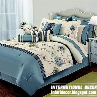 modern soft duvet cover bedding sets blue design, modern bedding design