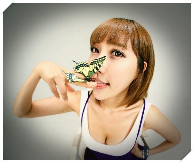 2 Im Min Young - White and Purple-Very cute asian girl - girlcute4u.blogspot.com