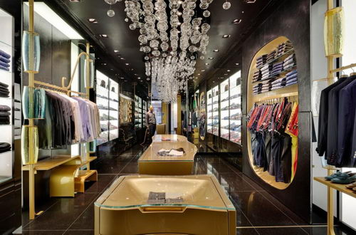 Billionaire the Italian Fashion Stores Design Details