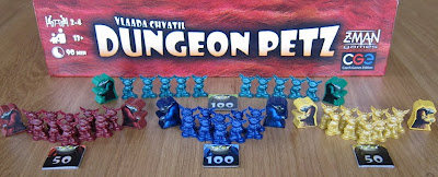 Dungeon Petz - The player Imps, Minions and Achievement tiles