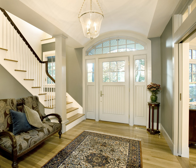 Lovely Contemporary Victorian Hallway: Beautiful Design Entry Hallway Paint Colors