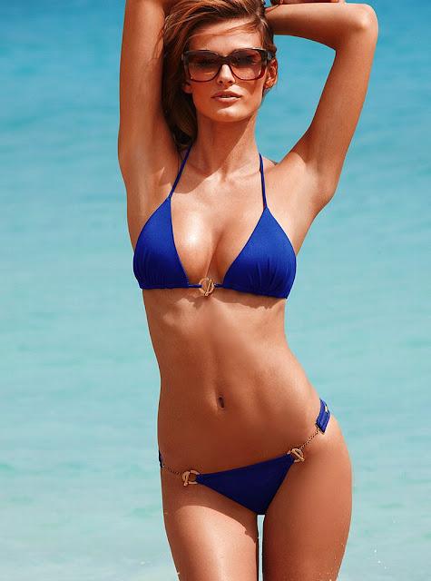 Edita Vilkeviciute sexy on the beach