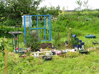 Pond, wildlife, wind chimes, recycling