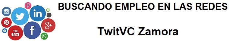 TwitVC Zamora. Ofertas de empleo, Facebook, LinkedIn, Twitter, Infojobs, bolsa de trabajo, cursos