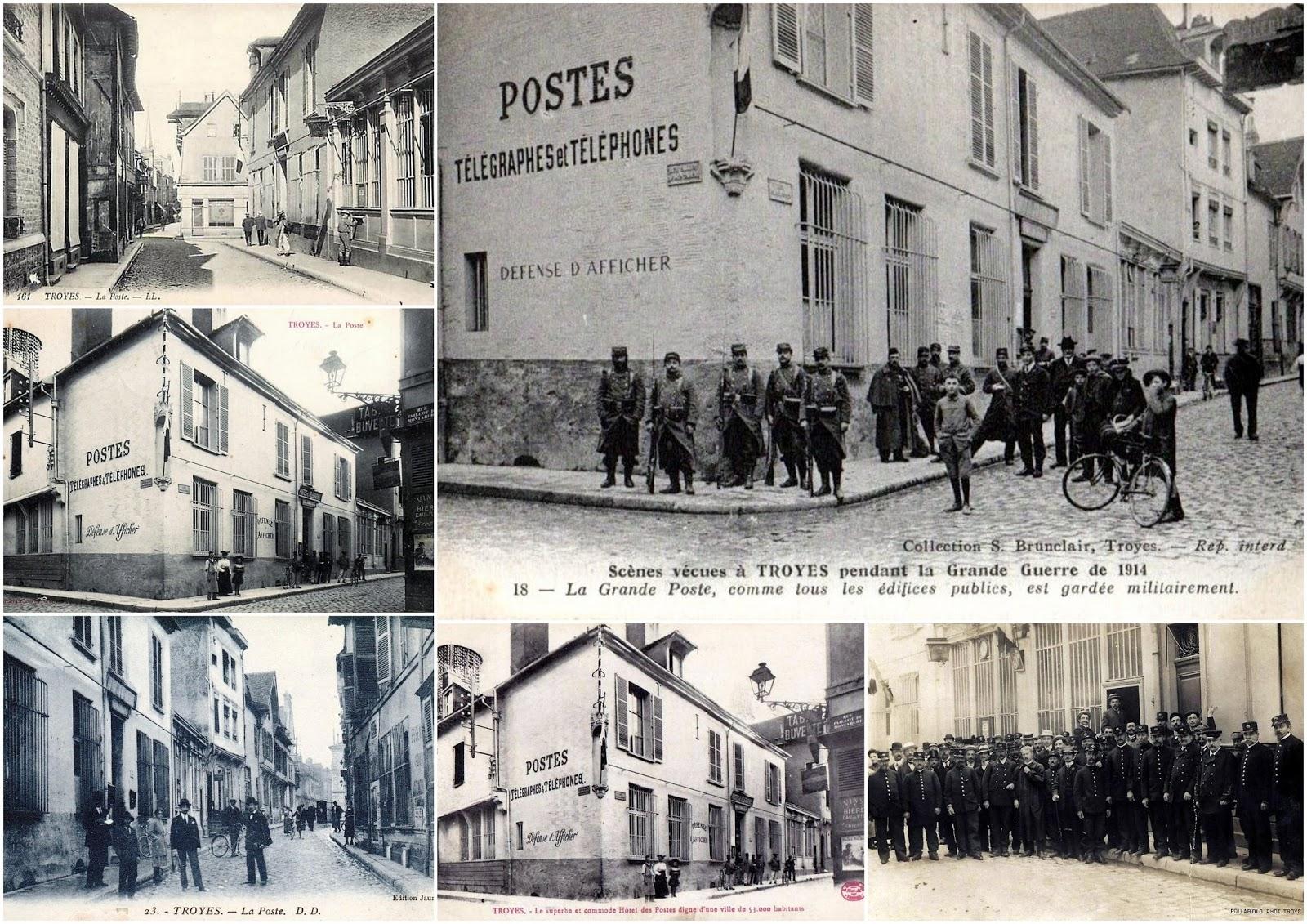 Troyes en champagne: lancien bureau de poste de troyes