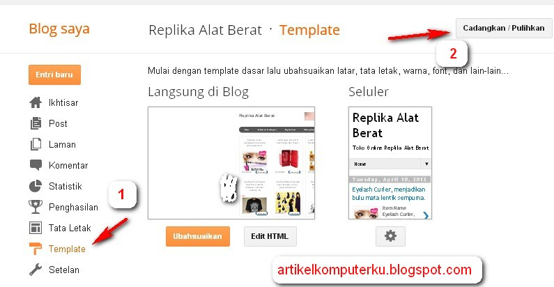 template blogspot