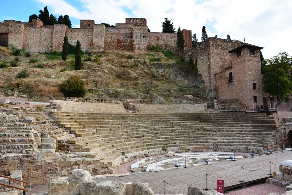 Malaga Roman buildings