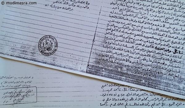 Manuskrip Abon Abdul Aziz.