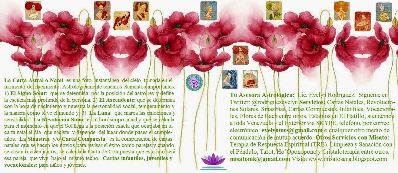 Escríbeme y participa en el sorteo de una Carta Natal y una Solar: evelynmrs@gmail.com