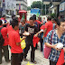 RM100 bill, one pack of rice & one red T-shirt. Here the prove
