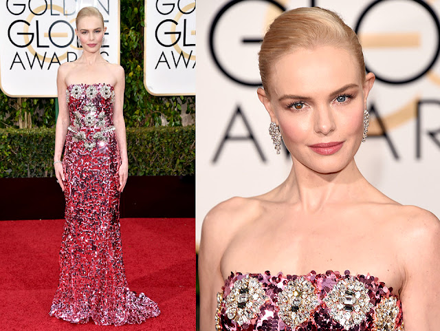 Kate Bosworth in Dolce and Gabbana - Golden Globe Awards 2016